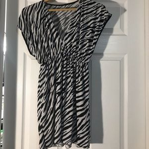 Other - Zebra print bathing suit cover